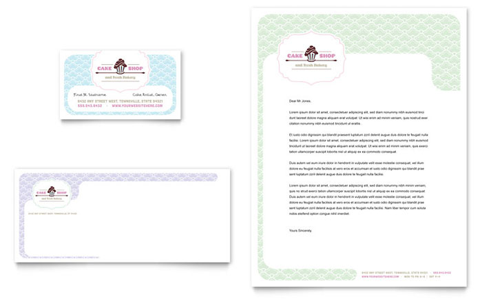 Cake Shop Business Card & Letterhead Design