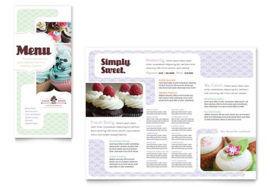Bakery Cupcake Shop Flyer Ad Template Design Cakes