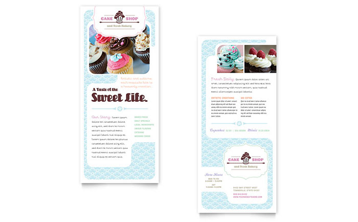 Cake Shop Rack Card Design