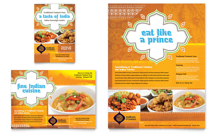 Flyer & Ads Sample - Indian Restaurant