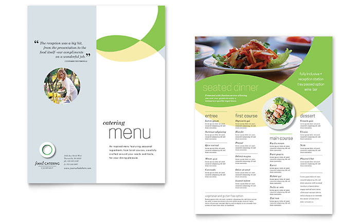 Food Catering - Menu Design