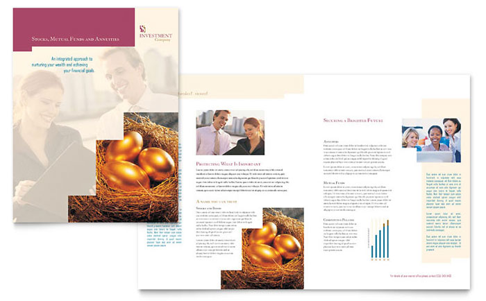 Investment & Wealth Management Brochures Templates & Graphic Designs