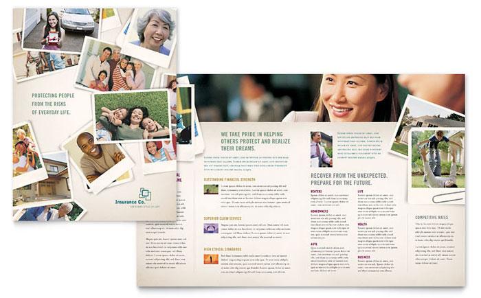 Life Insurance Company Brochure Template Design