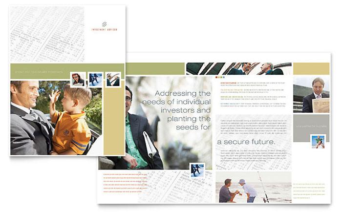 Investment Advisor Brochure Template Design