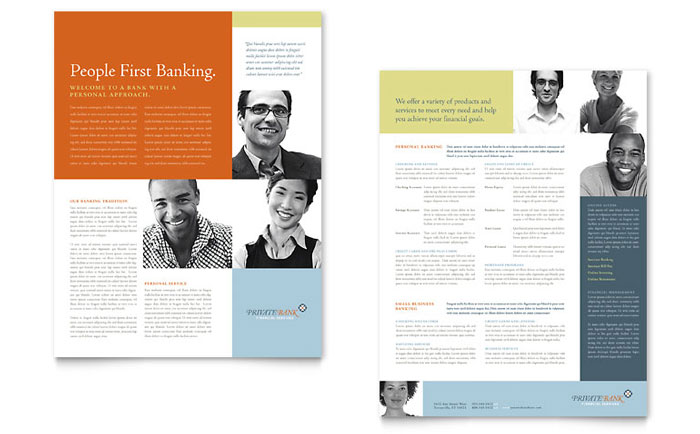 Private Bank Datasheet Design