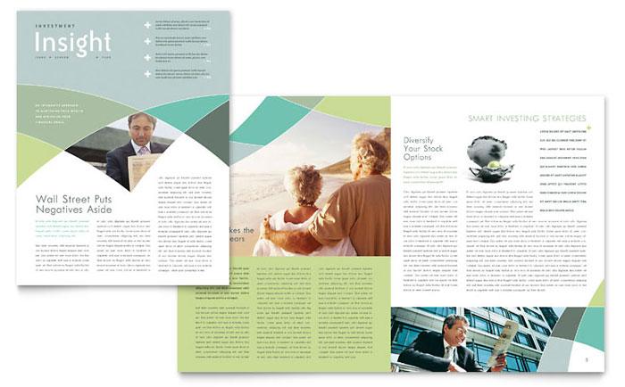Financial Advisor Newsletter Template Design