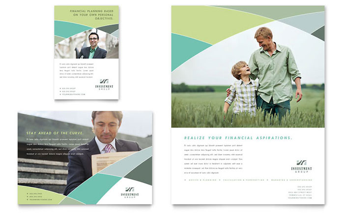 Financial Advisor Flyer & Ad Template Design