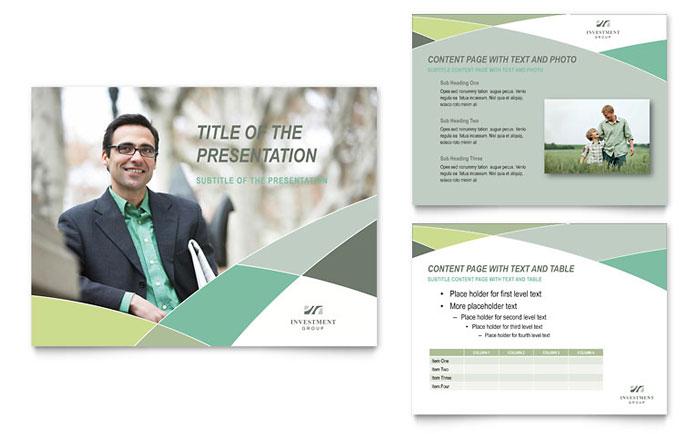 Financial Advisor PowerPoint Presentation Template Design