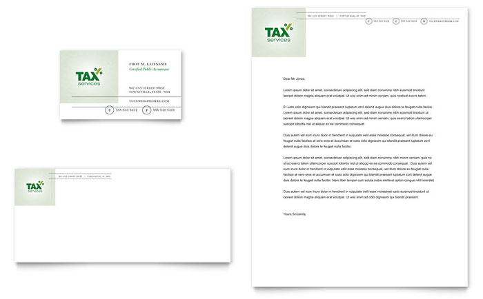 Accounting & Tax Services Business Card & Letterhead