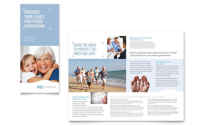 Estate Planning Tri Fold Brochure Design