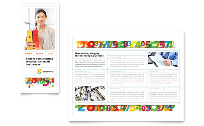 Bookkeeping Services Brochure Design