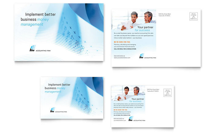 Accounting Firm - Postcard Example