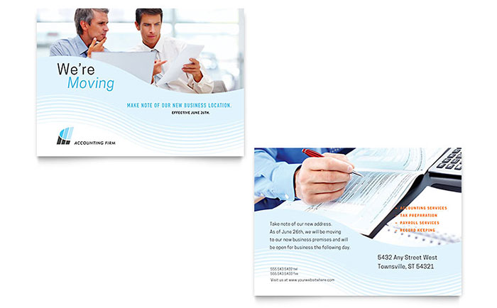 Accounting Firm Announcement Template Design