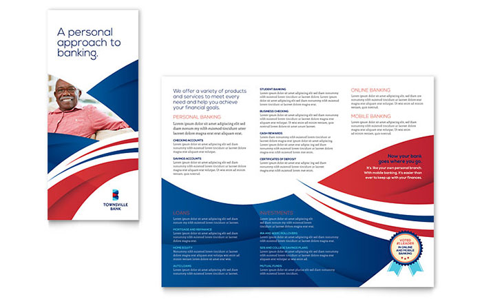 Bank Brochure Template Design