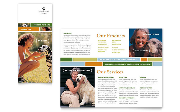 Veterinarian Clinic Brochure Template Design