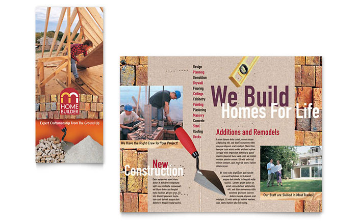 Home Builder & Contractor Brochure Template Design
