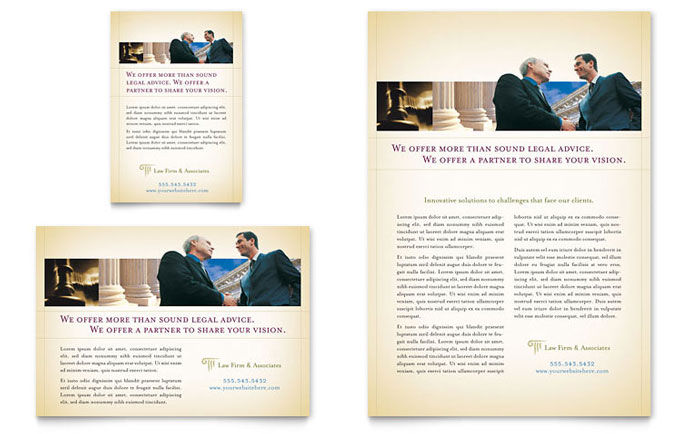 Attorney Legal Services Flyer Ad Template Design