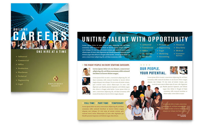 Job Brochure Examples Ideal Vistalist Co