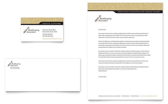 Bookkeeping & Accounting Services Business Card
