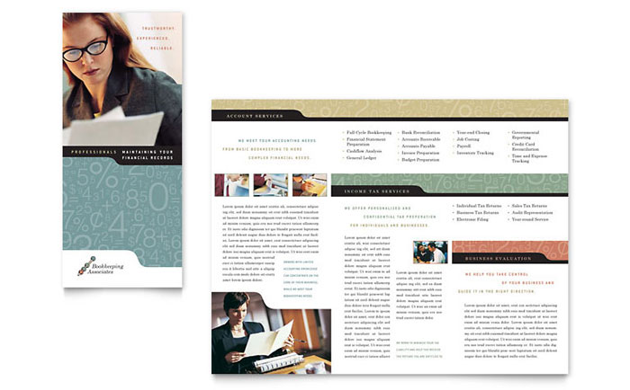 Bookkeeping & Accounting Services Tri Fold Brochure