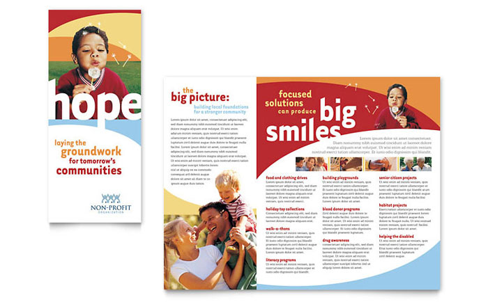 Non Profit Brochure Templates Free Ideal Vistalist Co