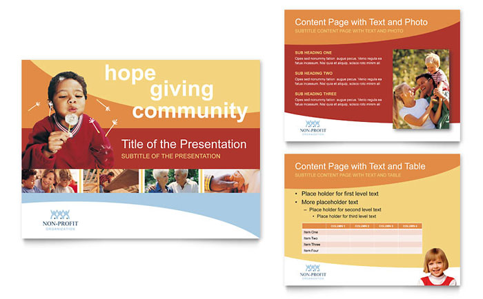 Community Non Profit PowerPoint Presentation Template Design