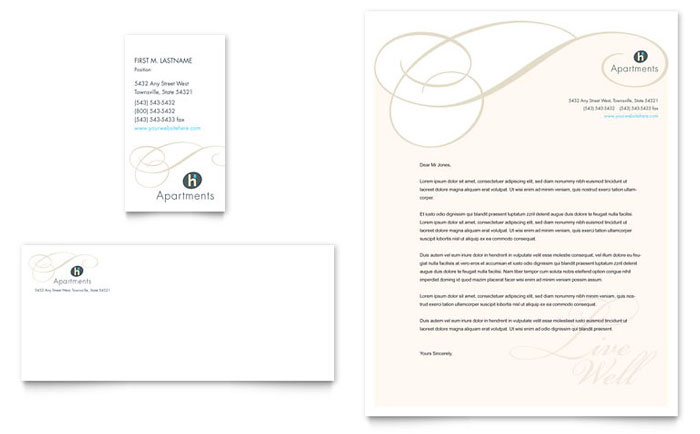 Apartment & Condominium Business Card & Letterhead