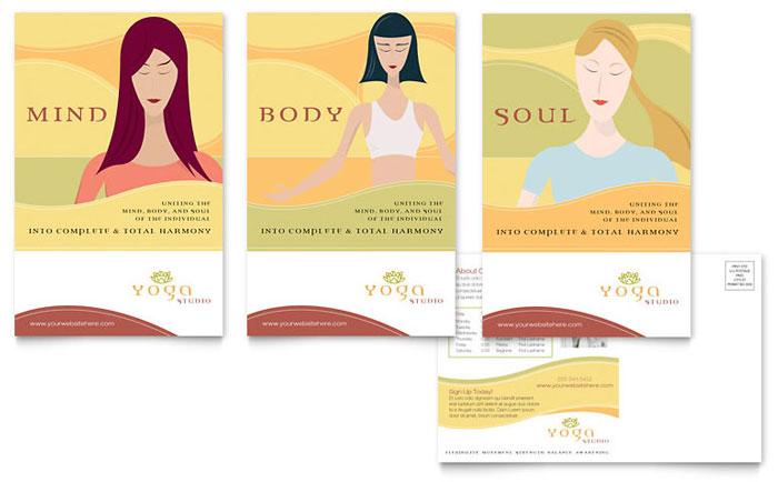 Yoga Instructor & Studio Postcard Template Design