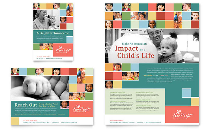Non Profit Brochure Template Ideal Vistalist Co
