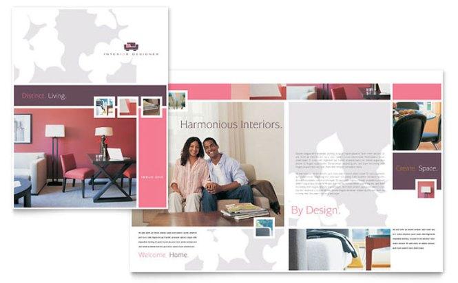 Morocco Motif Company Profile Template Vector