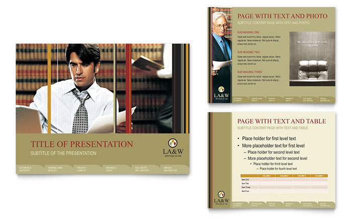 Lawyer  Law Firm PowerPoint Presentation Template Design