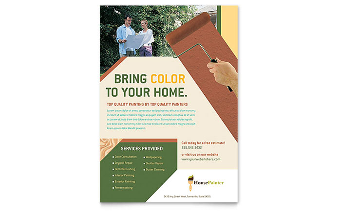 Painter & Painting Contractor Flyer Template Design