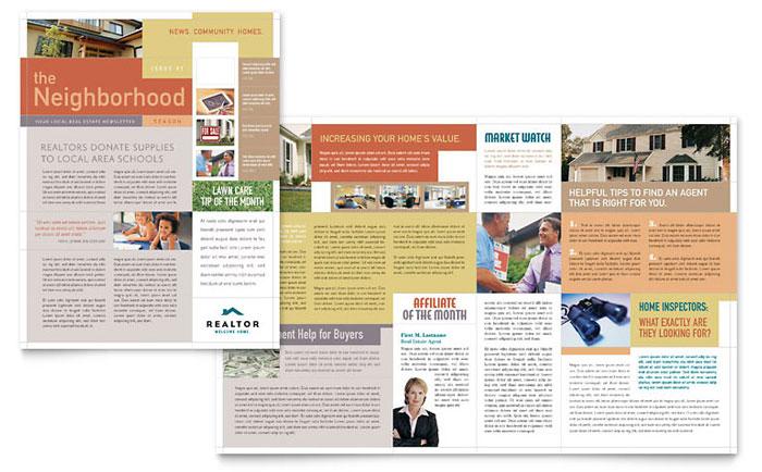 Realtor & Real Estate Agency Newsletter Template Design