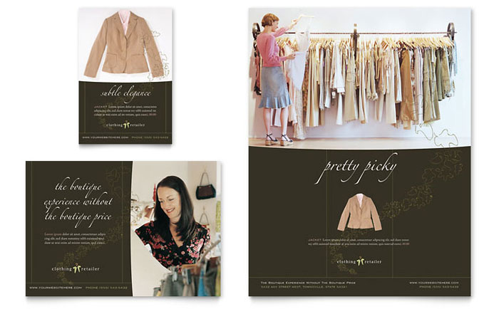 Women's Clothing Store Flyer & Ad Template Design
