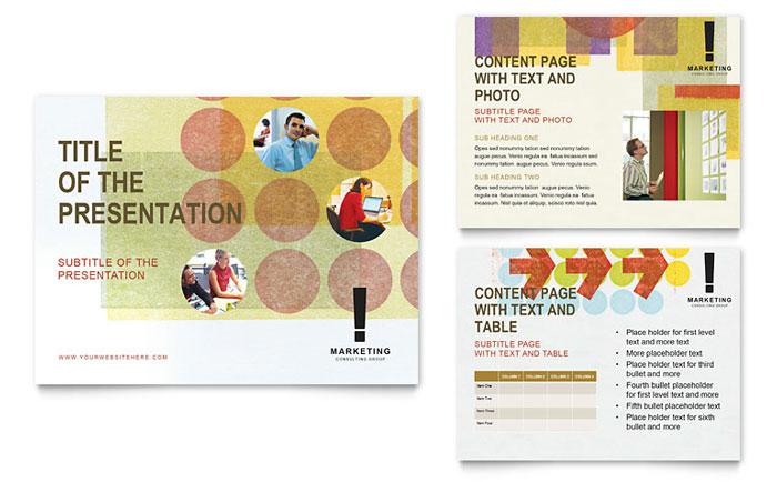 Marketing Consultant PowerPoint Presentation Template Design