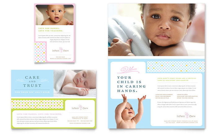 Infant Care & Babysitting Flyer Design