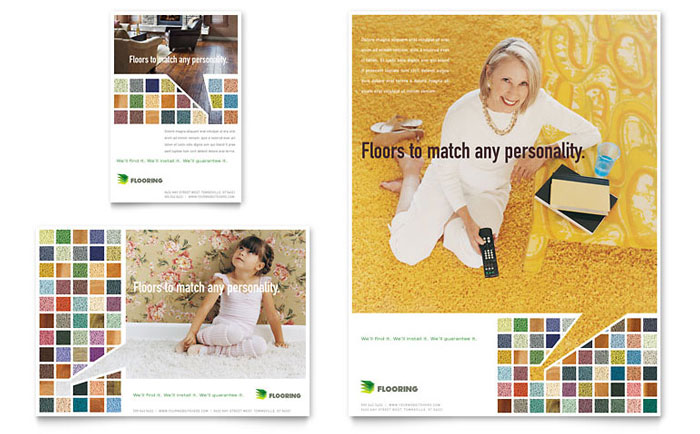 Carpet & Hardwood Flooring Flyer & Ad Design