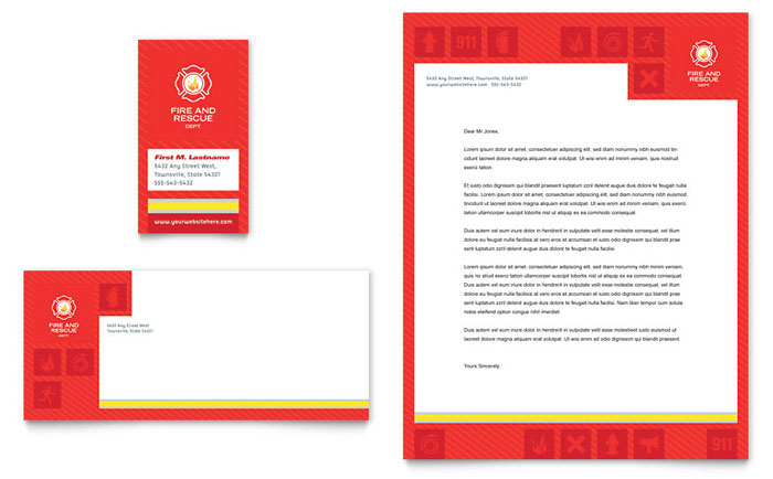 Fire Safety Stationery Design