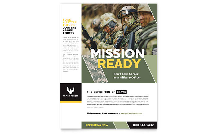 Military Flyer Template Design