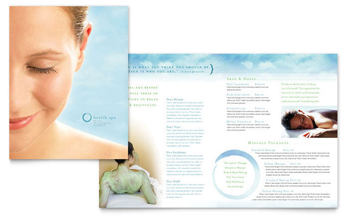 Day Spa & Resort Brochure Template Design