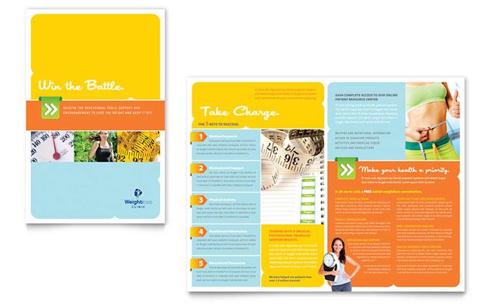 Weight Loss Clinic Brochure Template Design