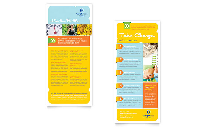 Weight Loss Clinic Rack Card Design