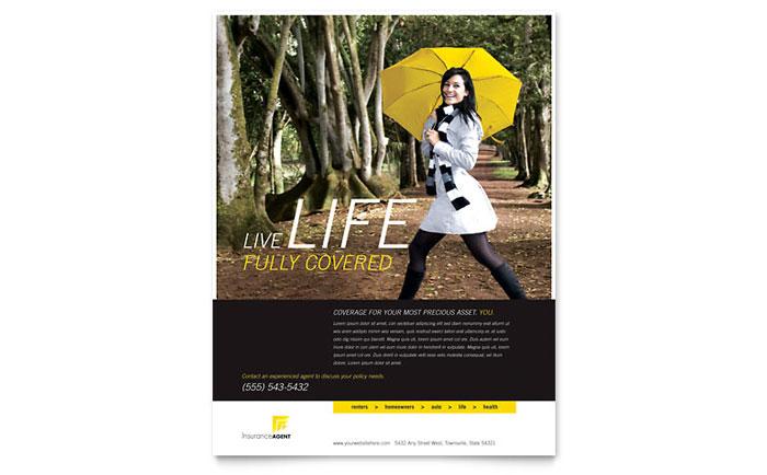 Insurance Agent Flyer Template Design