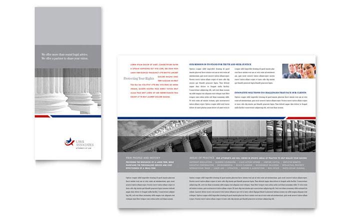 Legal & Government Services Tri Fold Brochure Template Design
