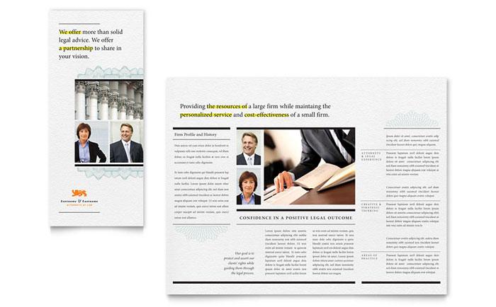 Attorney Tri-Fold Brochure Example