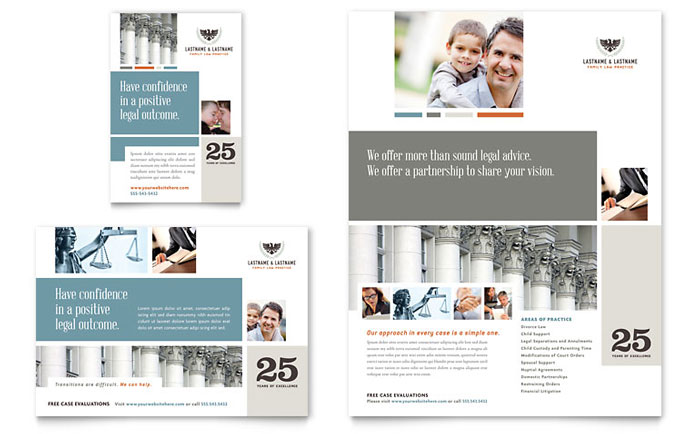 Family Law Attorneys Flyer Design