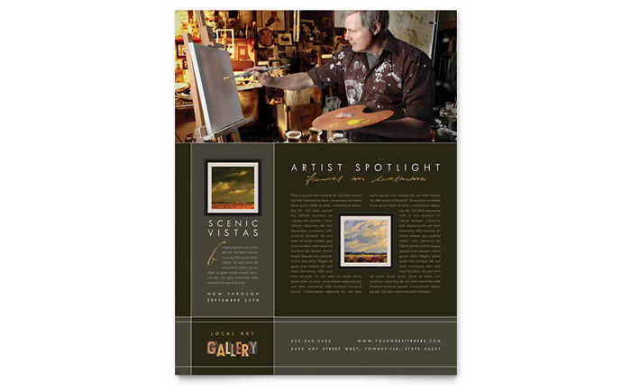 Art Gallery & Artist Brochure Template Design