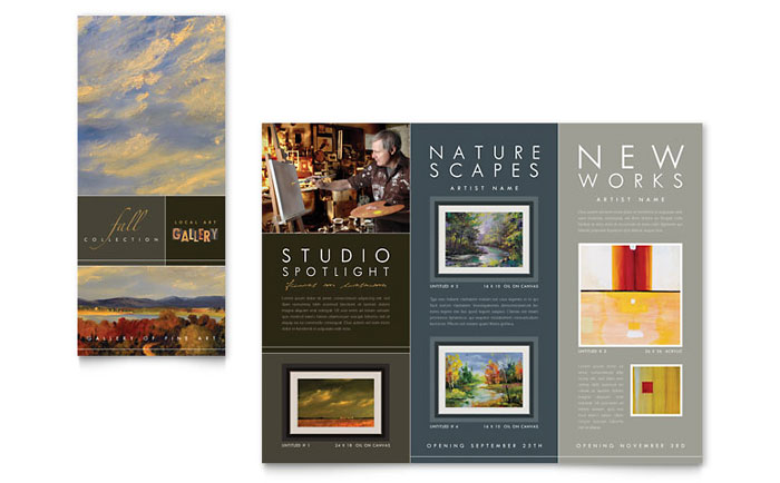 Art Gallery Tri Fold Brochure Design