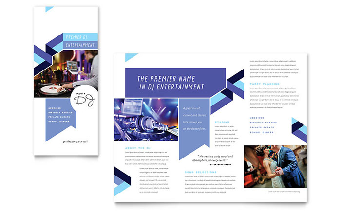 DJ Brochure Template Design
