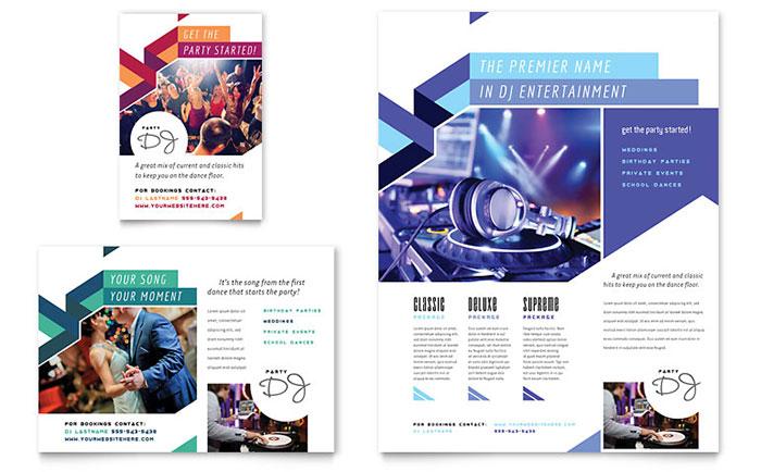 DJ - Flyer & Ad Design Example
